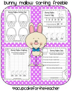 FREE Easter math graphing activity with bunnies...anybody know where I can find the bunny-mallows?