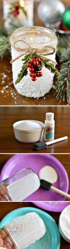 Handmade Mason Jar Votives.