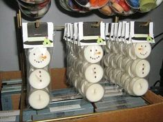 Candle Snowman Gift