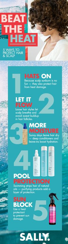 Beat the summer heat with these five ways to protect your hair. The sun can damage hair and scalp, so it's best to cover hair and wear it loose when possible, as well as maintaining hydration with hair care that deeply conditions. Discover the best shampoos, conditioners and stylers that'll keep hair shiny and healthy through the warm months. Spring Hairstyles, Loose Hairstyles, Protective Hairstyles, Biotin Hair Growth, Hair Frizz, Star Mobile, Natural Hair Care, Natural Hair Styles, Hair