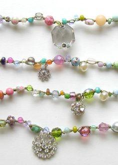 onujewelry.com - Lola and Princess Lola Necklaces - handcrafted beaded jewelry by Donna Silvestri, On U Jewelry, Richmond, VA.