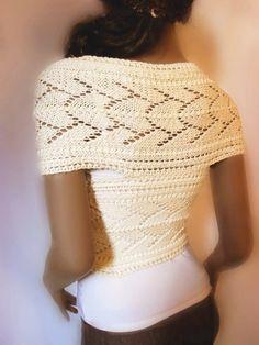 Punto suéter del Knit del patrón encaje Womens por PillandPattern