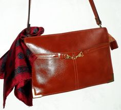 fee8569637 80s Equestrian Leather Bag British Tan Glossy by MushkaVintage3 Leather  Craft