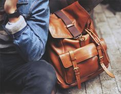 Bleecker Leather Backpack by Coach