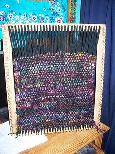 loom weaving- go big for rugs, yo.