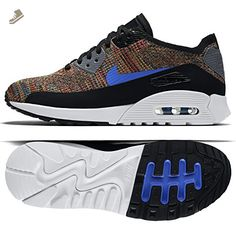 Nike W Air Max 90 Ultra 2.0 Flyknit 881109-001 Black/Blue/Grey