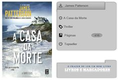 Livros e marcadores: A Casa da Morte de James Patterson e David Ellis