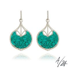 Cloud Nine large turquoise earrings, a numbered edition of Annoushka/24.