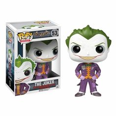 From the hit video game Batman: Arkham Asylum comes new Funko POP Vinyl Figures! Kick start your Pop! Vinyl collection with this pint-sized evil maniac, The Joker! This Pop depicts Joker's image as seen in Arkham Asylum, so don't miss out! Le Joker Batman, Joker Pop, Funko Pop Batman, Gotham Batman, Batman Art, Batman Robin, Joker Nurse, Spiderman, Batman Stuff