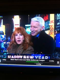 Anderson Cooper & Kathy Griffin dancing to music on New Years Eve. THEY ARE HILARIOUS!!!