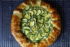 zucchini and ricotta galette.  if it's from the smitten kitchen, it must be good...lunch anyone??