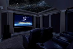 Night Sky painted on the ceiling! How pretty!