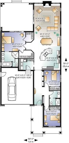 131 Best Small Modern House Plans images in 2019   Small house plans Long Narrow House Storey Floor Plan Html on