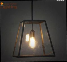 45.00$  Buy now - http://ali7tu.worldwells.pw/go.php?t=32386955835 - Hot sale Antique black iron pendant light E27 bulbs iron glass square lampshape pendant lamp