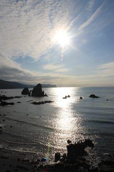 Beach in Bermeo, Basque Country (Vizcaya)