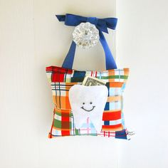 Items similar to Tooth Fairy Pillow Boys Tooth Fairy Personalized Tooth Fairy Gift for Boys Personalized Tooth Fairy Pouch in Royal Blue Madras on Etsy Tooth Pillow, Tooth Fairy Pillow, Sewing Crafts, Sewing Projects, Quilting Projects, Sewing Ideas, Sewing Patterns, Diy Projects, Loose Tooth