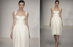 Love the simple sexy of this Amsale LWD for a #wedding.