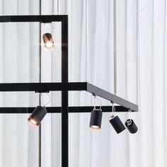 Raíles electrificados-Carriles electrificados de bajo voltaje-Lámparas de suspensión-SPOT 5-Buschfeld Design