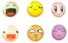 6pcs Various Cute Expressions iPhone Home Button Sticker ( iPhone Sticker / for iPad iPod iPhone 5 4 4S 3G )  http://stores.ebay.com/NOA-HONG-KONG