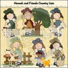 Hannah and Friends Prim Livin' 1 - Clip Art by Cheryl Seslar : Digi Web Studio, Clip Art, Printable Crafts & Digital Scrapbooking!