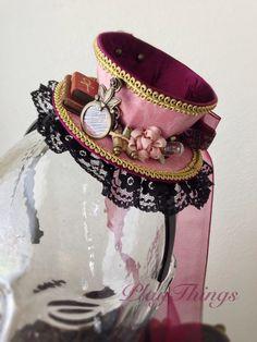 Steampunk Hat, Steampunk Costume, Steampunk Fashion, Gothic Fashion, Emo Fashion, 1930s Fashion, Steampunk Clothing, Tea Hats, Tea Party Hats