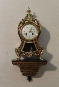 French Boulle Mantel Clock on Bracket