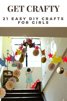 Looking for easy and fun crafts to make with kids? You're in luck! This collection of 21 easy DIY crafts is full of fun and cute ideas! Whether you're looking for simple arts and crafts for toddlers or preschool aged kids, or more advanced DIY crafts for teens to make and sell this collection of crafts for kids will not disappoint! Click here to read it or pin for later! #DIYcrafts #kidscrafts