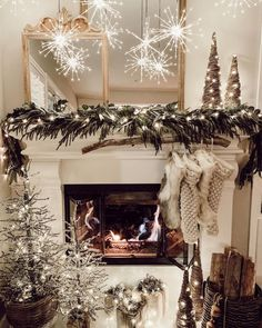 Baby It's Cold Outside: 25 Christmas Mantel Ideas For Winter Warmth If you have a fireplace in your home, the mantel should be adorned with Christmas decorations to help make your home feel warm and festive.