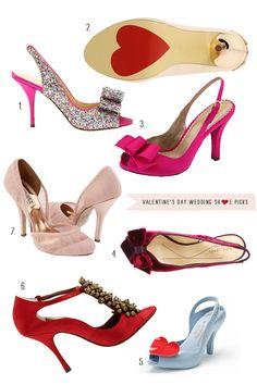 Valentine's Day Wedding Shoes on http://ruffledblog.com