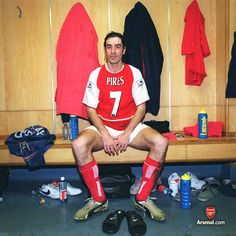 Robert Pires sits in the away team changing room at Tottenham, with the winning feeling sinking in... 25/4/04. #Arsenal