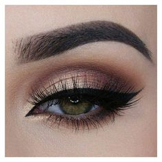 11 Makeup Techniques To Make Small Eyes Look Bigger ❤ liked on Polyvore featuring beauty products and makeup