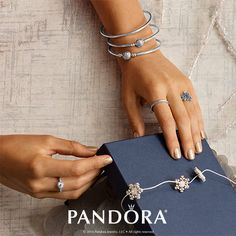 A helping hand should be decorated in style. PANDORA Jewelry has stunning sterling silver rings and beautiful bangles to show off your festive flare this holiday season.
