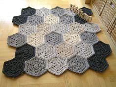 Dywan polygonal od pętelkowo