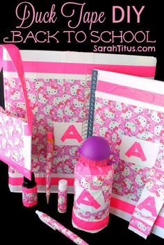 Duck Tape DIY Back to School #DIY #backtoschool