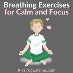 5 Breathing Exercises for Kids for Calm and Focus - Kids Yoga Stories Yoga For Kids, Exercise For Kids, Preschool Yoga, Childrens Yoga, Kindergarten, Yoga Books, Yoga Breathing, Improve Mental Health, Spiritual Wellness