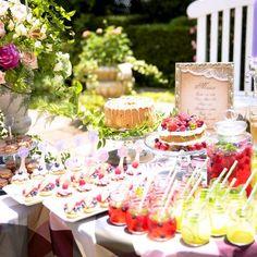 結婚式場写真「大人気のデザートブッフェはガーデンパーティにもおすすめ♪」 【みんなのウェディング】