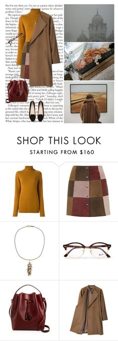 """Claudia"" by hanraven ❤ liked on Polyvore featuring Chloé, Topshop, Isabel Marant, Ray-Ban, Céline Lefébure, G.V.G.V. and Witchery"
