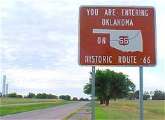 coming from the west out of texas on old route 66.  this is the sign that welcomes you to oklahoma