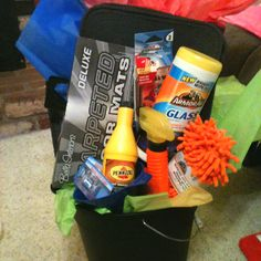 car care themed auction basket i made for a work event