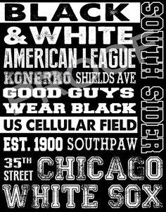 Chicago White Sox Subway Art on Etsy, $30.00