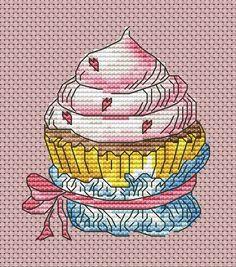 (109) Gallery.ru / Фото #12 - Сладкое 3 - BlueBelle Cupcake Cross Stitch, Cross Stitch Fruit, Cross Stitch Kitchen, Mini Cross Stitch, Cross Stitching, Cross Stitch Embroidery, Cross Stitch Patterns, Arts And Crafts, Sewing