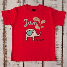 Camiseta bebé manga corta elefante con tu nombre - Marketplace social de tiendas para niños de 0 a 14 años
