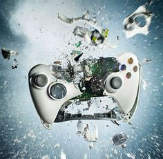 By Dan Saelinger, 8 controllers were destroyed to make the perfect photo of an exploding controller.