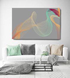 Color Breeze 4 Abstract New Media Art Wall Decor Extra