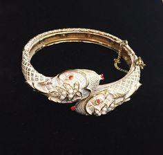 1960s Vintage Snake Bracelet Signed ART Designer by BranchOutShop