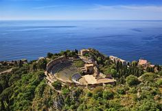 Antikes Theater in Taormina, Sizilien, Italien #Frühlingsreise