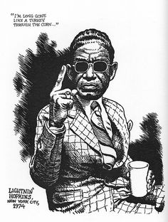 Lightnin' Hopkins by Robert Crumb on Curiator, the world's biggest collaborative art collection. Robert Crumb, Fritz The Cat, Gravure Illustration, Alternative Comics, Jazz, Blues Artists, Bd Comics, Blues Music, Art Graphique