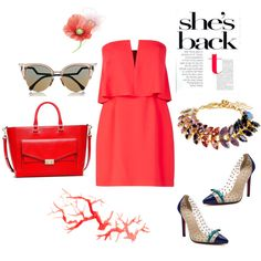 Designer Clothes, Shoes & Bags for Women Glow, Passion, Bracelet, Shoe Bag, Red, Stuff To Buy, Shopping, Collection, Design