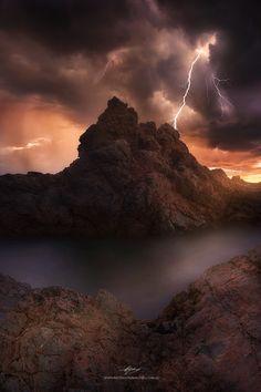 """Struck"" by Rod Trenchard, Lightning Storm, East Coast of Australia"
