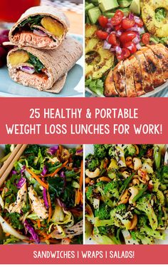 Here we have collected 25 amazing, healthy & portable lunches that you can take to work (or anywhere really) and enjoy wherever. Delicious, wraps and sandwiches and salads, tons of flavour, tons of vitamins and minerals that will set you up for the rest of the day. Enjoy!